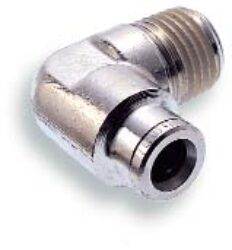 101450818-úhlové šroubení R1/8, na hadicu vnějš.pr.8mm, PUSH-IN řada 10br Pmax.18 bar , O kroužky bez silikonu
