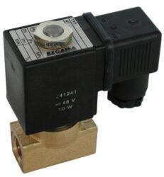 2VE6DF-Elekromag. ventil G1/4, bez cívky, světlost 6mm,br standardní napětí - 230V AC, 24V DC,br pracovní tlak: min. 0,05 bar, max. 16 bar (T 125°C, Pmax. 6 bar)