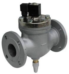 2VE50DBB-Elektromag. ventil přírubový, 230V AC, světlost 50mm,br pracovní tlak: min. 1bar, max. 10bar, br standardní napětí - 230V AC, 24V AC, 24V DC
