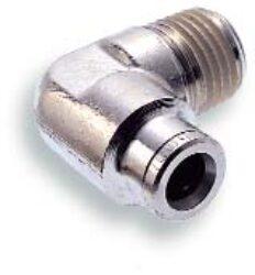 101470518-úhlové 90ti-stupňové šroubení otočné R1/8, na hadicu vnějš.pr.5mm, PUSH-IN řada 10br Pmax.18 bar , O kroužky bez silikonu