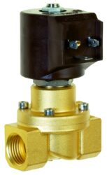 8414                                                                            -2/2 elektromagnetický ventil - nuceně ovládaný, DN12, G1/2, 24V AC, 0 - 5bar, NC, Tmax.+90°C konektor je součástí balení ventilubr