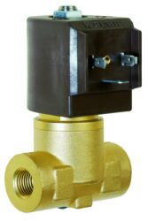 8322                                                                            -2/2 elektromagnetický ventil - nepřímo ovládaný, DN11, 24V DC, G1/4, 0,1 - 20bar, NC, br Tmax.+150°C včetně konektoru DIN 43 650 FORM Abr