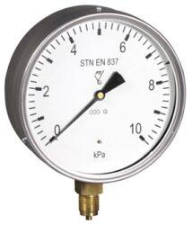 03388                                                                           -Membránový tlakoměr s krabicovou membránou a spodním přípojem.br 03388 0-6Kpa M20x1,5