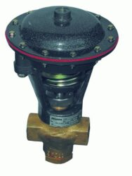 2VM25OC-2-cestný membránový ventil G1, světlost 25mm, br 0-32 bar, v zákl. poloze otevřen,br ovládací tlak min. 2,2 bar, max. 2,8 bar