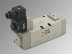 ISV 55 SOS OO-5/2 elektropneumatický ventil ISO 1 monostabil, 2,5-10 bar, br průtok 1100 l/min., mechanická pružina