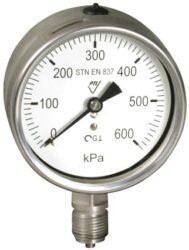 03382 CHV-Celonerezový, vodotěsný tlakoměr se spodním přípojem.br 03382 - CHV  M20x1,5