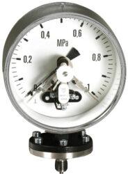 03393                                                                           -Kontaktní membránový tlakoměr se spodní přírubou.br Příruba litinová, membrána ocelová.br 03393  M20x1,5