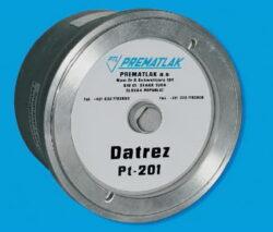 DATREZ-DATREZ PT-201 elektronický záznamník tlakubr IP 65, tř. př. 0,5%, napájení 3x1,5V/DC-baterie, připojení k PC 9-pin konektor, paměť 150000 záznamových bodů, interval záznamu min. 5 sec., max. 24 hod, připojení G1/2