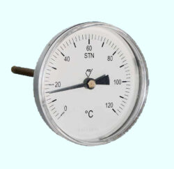 7011-Bimetalový teploměr rovnýbr TDP 80