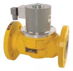 Bezpečnostní ventily pro plyn (přírubové).-Bezpečnostní ventily / uzávěry pro plyn typová řada ZEA, DN-50 až DN-100, přírubové provedení (připojení  PN16), ventily jsou v základní poloze bez napětí UZAVŘENY (NC) . Pracovní přetlak: od 0 kPa až do 25 kPa , 230V, 110V, 24V AC, 12V DC, 24V DC , prostředí  s nebezpečím výbuchu. Pracovní poloha: vodorovná .
