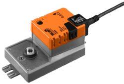LU..A-Rotační pohony typové řady LU..A s připojiovacím kabelem pro klapky do cca 0.6m2 tvarovaný konec 8mm / 10mm / 21mm, pro pracovní úhel  95°.