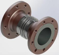 Kompenzátor axiální kovový pro zemní plyn