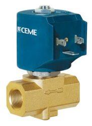 9914-pro páru od 0 bar                                                          -2/2 elektromagnetický ventil-přímo ovládaný, NC, DN4, G1/2, 0-10 bar, 230V AC,  Tmax.+180°C, včetně cívky a konektoru