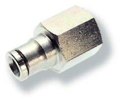 102260618-přímé šroubení G1/8, na hadicu vnějš.pr.6mm, PUSH-IN řada 10 Pmax.18 bar , O kroužky bez silikonu