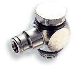 10A511038-přípojka úhlová otočná G3/8A, na hadicu vnějš.pr.10mm, PUSH-IN řada 10 Pmax.18 bar , O kroužky bez silikonu