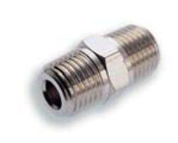 150202828-Vsuvka s vnějšími kuželovými závity R1/4xR1/4, Pmax. 18 bar