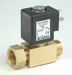 PL10-2/2 elektromagnetický ventil-přímo ovládaný NC DN2, připojení pro PB láhev 10 kg W21,8 x 1/14LH 0-10 bar,konektor není součástí balení ventilu