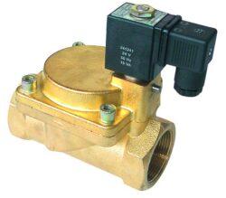2VE13DA-Elektromag. ventil G1/2, bez cívky, světlost 13mm, standardní napětí: 230V AC, 24V AC, 24V DC, pracovní tlak: min.0,3 bar, max.16 bar (T 130°C, Pmax.10bar)