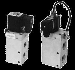 3VE16DF-3/2-cestný ventil s elektropneu. ovládáním G1/2,bez cívky, světlost 16mm, 2-10 bar
