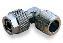241451238-úhlové 90ti-stupňové šroubení s vnějším závitem R3/8,  na hadici 12/10 PUSH-ON