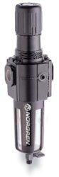 B74G-3GK-AP3-RMN-filtr-regulátor G3/8, tlakový rozsah 0,3-10 bar, vložka 40 µm,automatické vypouštění kondenzátu, s přetlakovým jištěním, bez manometru