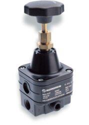 11-818-100                                                                      -regulátor tlaku vzduchu G1/4, rozsah nast.0,07-4 bar s přetlakovým jištěním, Pmax.10 bar pro stlačený vzduch bez oleje filtrovaný na 5 µm