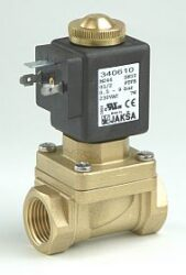 M246-pro páru                                                                   -2/2 elektromagnetický ventil-nepřímo ovládaný,DN10;G1/2,230V AC,0,5-9bar,NC,Tmax.+180°C konektor není součástí balení ventilu