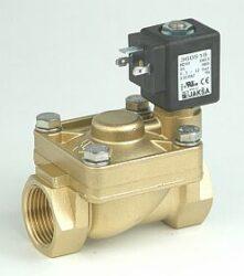 M263 - pro páru                                                                 -2/2 elektromagnetický ventil - nepřímo ovládaný, DN18,5; G1, 230V AC, 0,5-9bar, NC, Tmax.+180°C  konektor není součástí balení ventilu