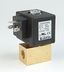 D220                                                                            -2/2 elektromagnetický ventil - přímo ovládaný DN1,4P; 230V AC, G1/4, 0-75bar, NC, Tmax.+75°C konektor není součástí balení ventilu