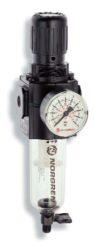B73G-3GK-QT3-RMN-filtr-regulátor G3/8, tlakový rozsah 0,3-10 bar, vložka 40 µm,ruční vypouštění kondenzátu, s přetlakovým jištěním, bez manometru