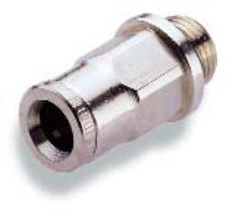 102250605-přímé šroubení M5, na hadicu vnějš.pr.6mm, PUSH-IN řada 10 Pmax.18 bar , O kroužky bez silikonu