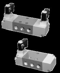 OSV10P-5/2-cestný pneumaticky ovládaný ventil G3/8 monostabil,  světlost 10mm, 3,5-10 bar