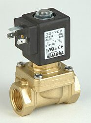M2451                                                                           -2/2 elektromagnetický ventil - nuceně ovládaný, DN12; G1/2, 230V AC, 0-10bar, NC, Tmax.+85°C konektor není součástí balení ventilu