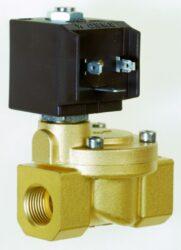 8616                                                                            -2/2 elektromagnetický ventil - nepřímo ovládaný, DN25, 24V DC, G1, 0,3 - 10bar, NC,  Tmax.+90°C včetně konektoru DIN 43 650 FORM A