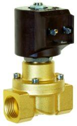 8414                                                                            -2/2 elektromagnetický ventil - nuceně ovládaný, DN12, G1/2, 24V DC, 0 - 5bar, NC, Tmax.+90°C konektor je součástí balení ventilu