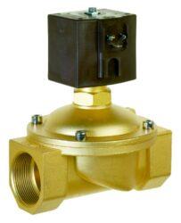 8418                                                                            -2/2 elektromagnetický ventil - nuceně ovládaný, DN39, G6/4, 230V AC, 0 - 4bar, NC, Tmax.+90°C konektor je součástí balení ventilu
