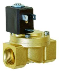 8514                                                                            -2/2 elektromagnetický ventil - nepřímo ovládaný, DN12, 24V DC, G1/2, 0,25 - 10bar, NC,  Tmax.+90°C včetně konektoru DIN 43 650 FORM B