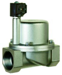 9018-pro páru +180°C                                                            -2/2 elektromagnetický ventil - nepřímo ovládaný, DN38, 24V AC, G6/4, 1 - 10bar, NC,  Tmax.+180°C včetně konektoru DIN 43 650 FORM A