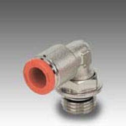 2L31012-úhlová 90ti-stupňová přípojka rotační G3/8, na hadicu vnějš.pr.8mm, PUSH IN SERIE FOX, Pmax.16 bar
