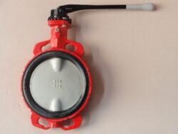 Uzavírací klapka-mezipřírubová ,série 600 ,verze B ,DN-150 ,PN-16 ,(voda).-Uzavírací klapka-mezipřírubová, série 600 verze B ,DN-150 ,PN-16 ,(pro vodu ). Ovládání ruční pákou, matr.tělesa : GG 25, manžeta: EPDM , talíř: GGG 40 . ATEST na pitnou vodu dle vyhlášky č. 409/2005. Připojení - stavební délka dle DIN 3202-K1, ISO příruba PN6/10/16 .