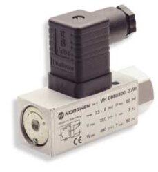 18D tlakový spínač                                                              -elektromechanický pneumatický tlakový spínač  rozsah 1...16 bar, G1/4, těsnění NBR, tělo Al, el.připojení zástrčkou dle DIN 43650 max.přetlak 80 bar