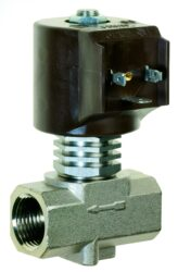9015-pro páru +180°C                                                            -2/2 elektromagnetický ventil - nepřímo ovládaný, DN21, 24V AC, G3/4, 1 - 10bar, NC,  Tmax.+180°C včetně konektoru DIN 43 650 FORM A