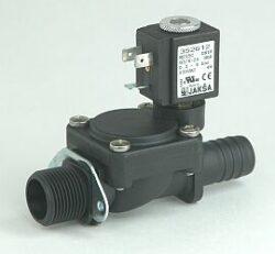 M255C                                                                           -2/2 elektromagnetický ventil - nepřímo ovládaný, DN18; G3/4-pr.20mm 230V AC, 0,3 - 10bar, NC, Tmax.+85°C,  konektor form B-malý není součástí balení ventilu