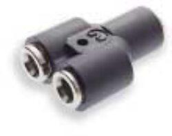 100820800-Y spojka, na hadicu vnějš.pr.8mm, PUSH-IN řada 10 Pmax.18 bar , O kroužky bez silikonu