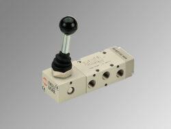 MAV 25 PPS OO-5/2 ručně ovládaný pneumatický ventil G1/8 monostabil, tlačítkový, 2,5-10 bar
