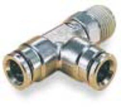 101680428-T šroubení otočné R1/4, na hadicu vnějš.pr.4mm, PUSH-IN řada 10 Pmax.18 bar , O kroužky bez silikonu