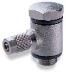 24A510818-úhlové 90ti-stupňové šroubení s dutým šroubem (bez regulace průtoku) G1/8, na hadicu 8/6 PUSH-ON