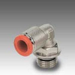2L31001-úhlové 90ti-stupňové šroubení otočné M5, na hadicu vnějš.pr.4mm, PUSH IN SERIE FOX, Pmax.16 bar