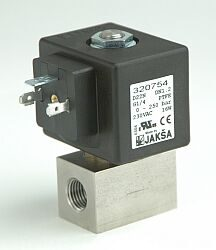 D22N                                                                            -2/2 elektromagnetický ventil - přímo ovládaný DN2 ;230V AC, G1/4, 0-150bar,NC,Tmax.+130°C konektor není součástí balení ventilu