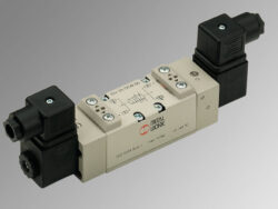 ISV 55 DOS OO-5/2 elektropneumatický ventil ISO 1 monostabil, 2,5-10 bar, průtok 1100 l/min.